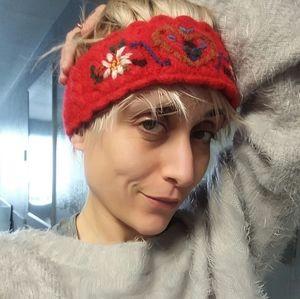 Vintage 70's Woven Winter Headband